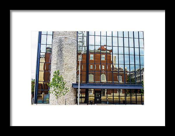 Reflections Framed Print featuring the photograph Across The Street by Shannon Harrington