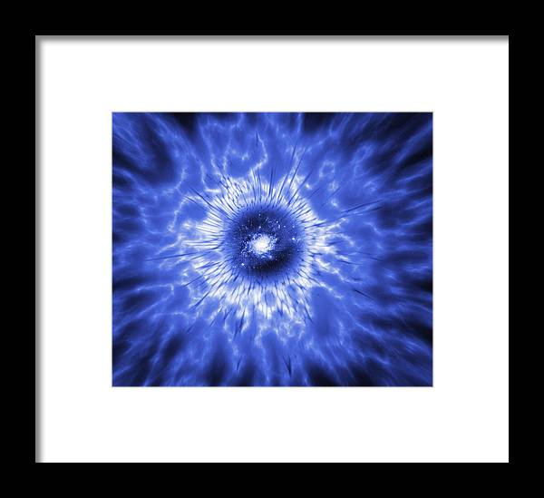 Active Galaxy Framed Print featuring the photograph Active Galaxy, Conceptual Artwork by Mehau Kulyk