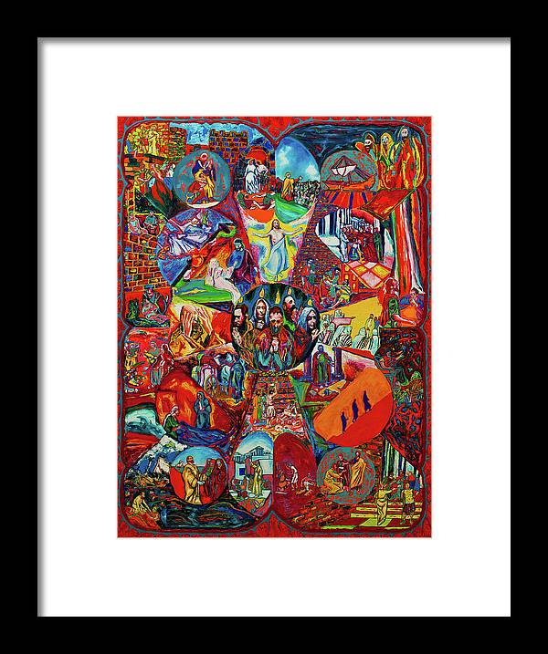 Biblical Theme Painting Framed Print featuring the painting Acts by Kennedy Paizs