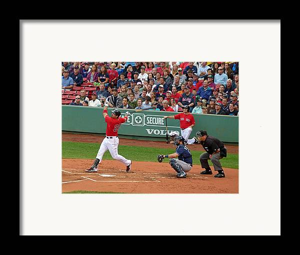 Adrian Gonzalez Framed Print featuring the photograph Adrian Gonzalez by Juergen Roth