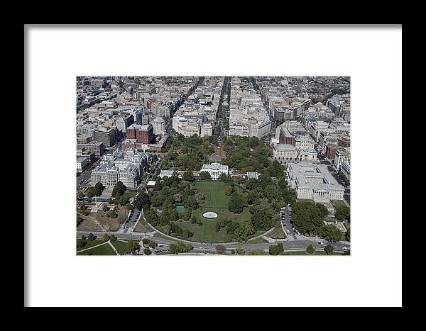 Aerial View Of The White House Framed Print