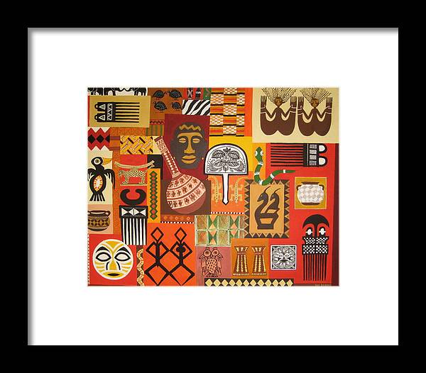 African Arts And Crafts Framed Print