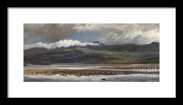 Seascape Framed Print featuring the painting After Rain by Henry Moore