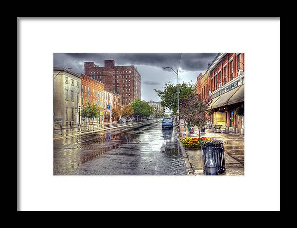 Hdr Framed Print featuring the photograph After The Rain by Brian Fisher