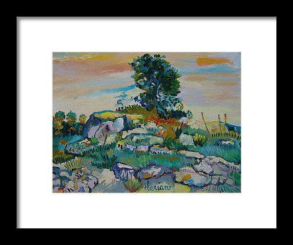 Art Framed Print featuring the painting after Van Gogh 13 by Mariano Zucchi
