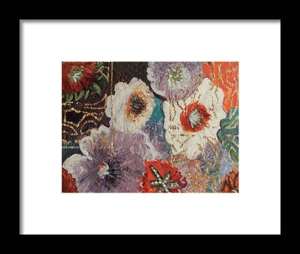 Flowers Framed Print featuring the painting Afternoon Imagination by Anne-Elizabeth Whiteway