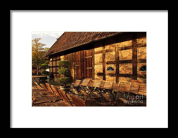 Europe Framed Print featuring the photograph Afternoon Light On Barn by Katja Zuske