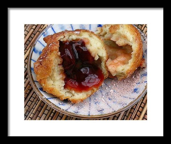 Ah Bing Framed Print featuring the photograph Ah Bing Cherry Fritters by James Temple