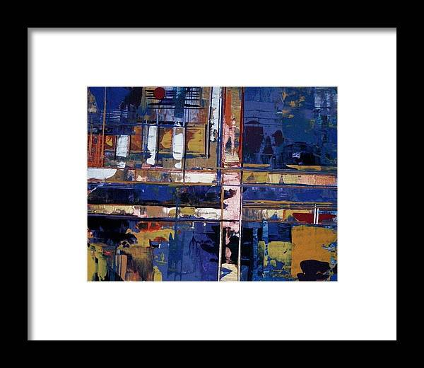 Abstract-expressionism Framed Print featuring the painting Ain't Easy Comin' From The Wrong Side Of The Tracks by Charlotte Nunn