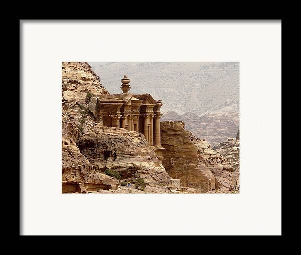 Horizontal Framed Print featuring the photograph Al-deir (monastery) by Cute Kitten Images