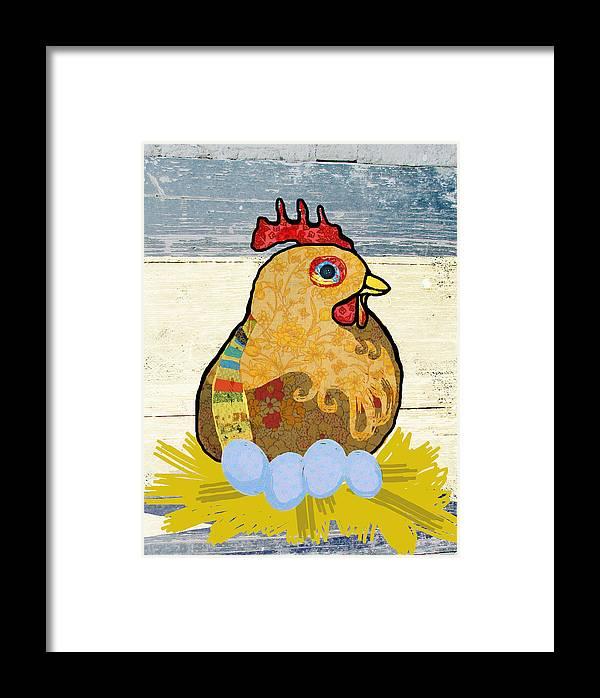 Chicken Framed Print featuring the digital art Alabama Hen by Hannah Bailey