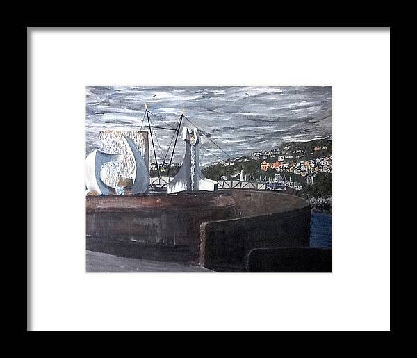 Water Framed Print featuring the painting Albatross by Neil Stewart