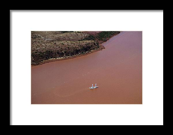 Alcyone Framed Print featuring the photograph Alcyone Turbosail Boat by Alexis Rosenfeld