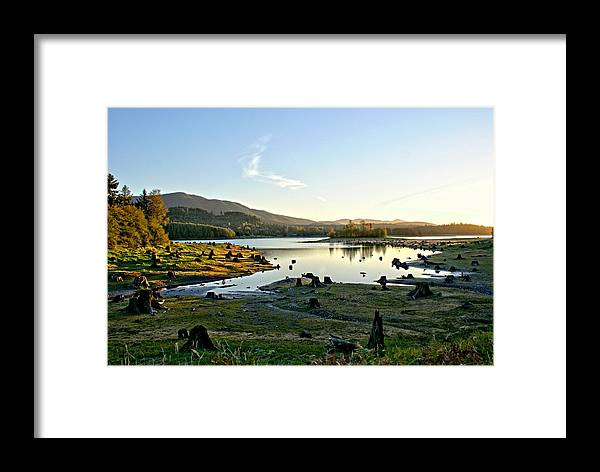 Alder Framed Print featuring the photograph Alder Lake Wa At Sunset by Rob Green