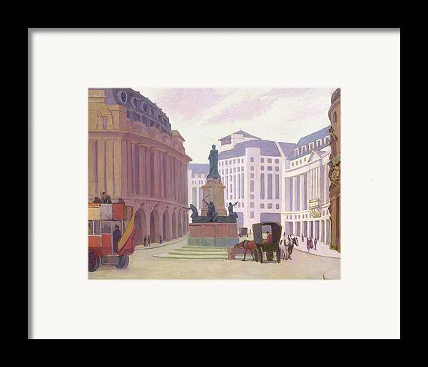 Aldwych Framed Print featuring the painting Aldwych by Robert Polhill Bevan