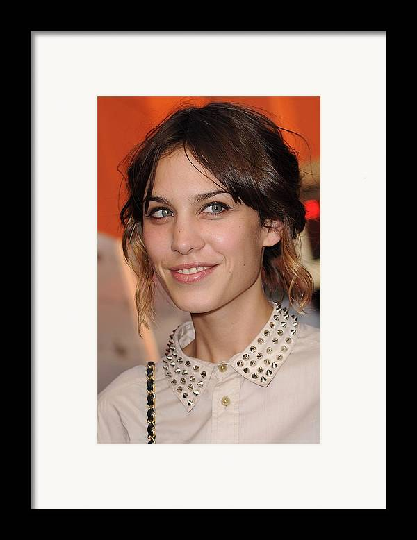 Alexa Chung Framed Print featuring the photograph Alexa Chung At Arrivals For Inglourious by Everett