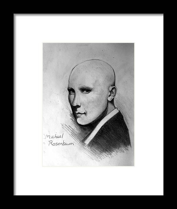 Michael Rosenbaum Framed Print featuring the drawing Alexander by Ulysses Albert III