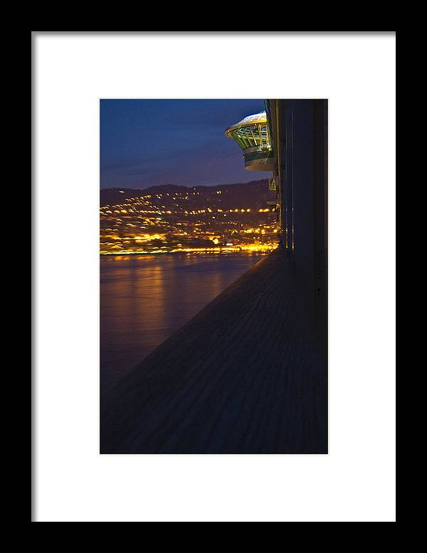 Alien Framed Print featuring the photograph Alien Spacecraft Over Villefranche by Richard Henne