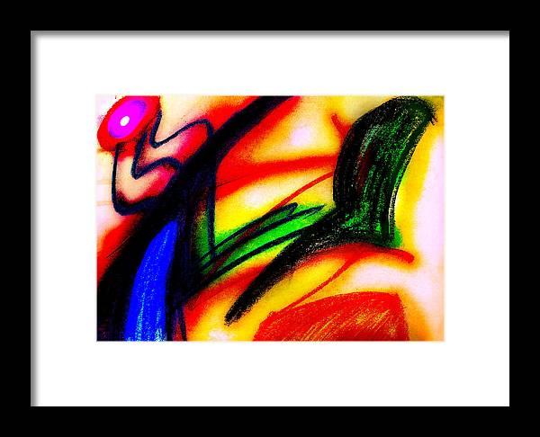 Chalk Framed Print featuring the digital art Alien Suntan II by Stephanie Margalski