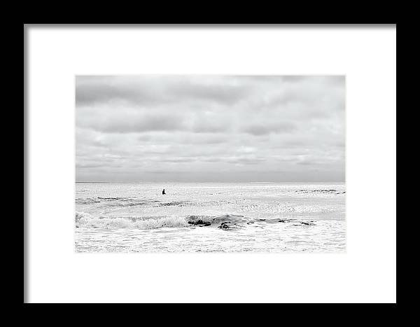 Beach Framed Print featuring the photograph All Alone by Denis Lemay