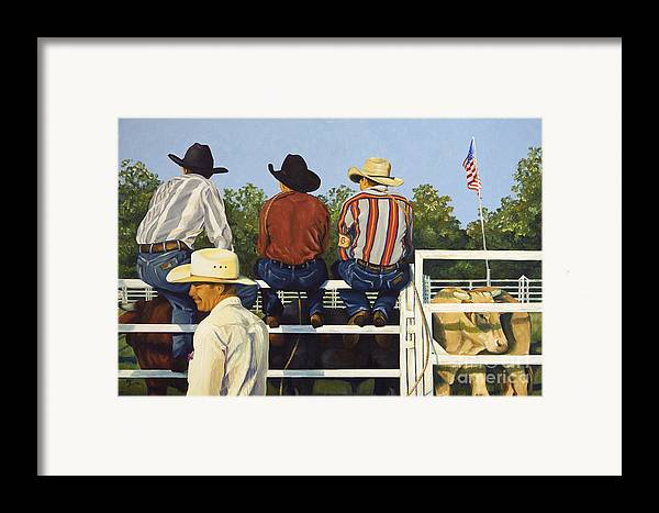 Cowboys Framed Print featuring the painting All American by Pat Burns