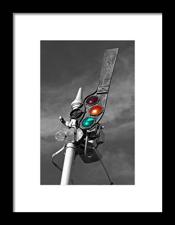 Railroad Framed Print featuring the photograph All Clear by David Sanchez