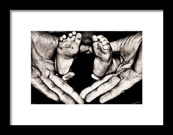 Infant Framed Print featuring the photograph All Fingers And Toes by Martina Fagan