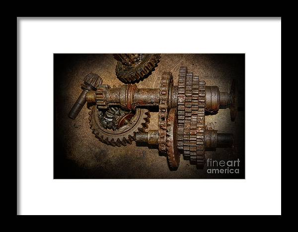 Gear Framed Print featuring the photograph All Geared Up With No Place To Go by The Stone Age