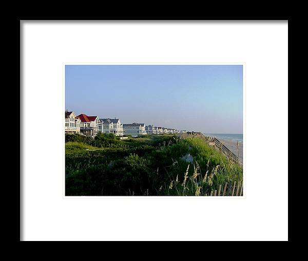 Outerbanks Framed Print featuring the photograph All In A Row by Frank Wickham