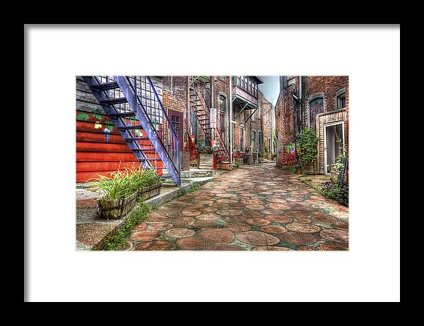 Hdr Framed Print featuring the photograph Alley by Brian Fisher