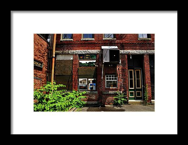Alley Life And Art Framed Print featuring the photograph Alley Life and Art by Mark Valentine