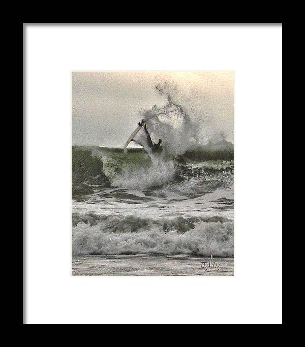 Surfer Framed Print featuring the photograph Alley-oop 1 by Marie Morrisroe