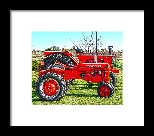 Diane Berry Framed Print featuring the photograph Allis-Chalmers Tractors by Diane E Berry