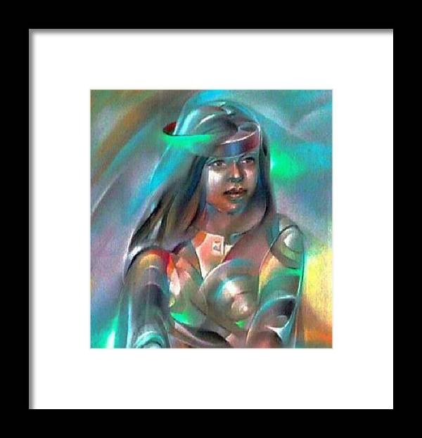 Elder Sister Framed Print featuring the pastel Alma 1980 by Glenn Bautista