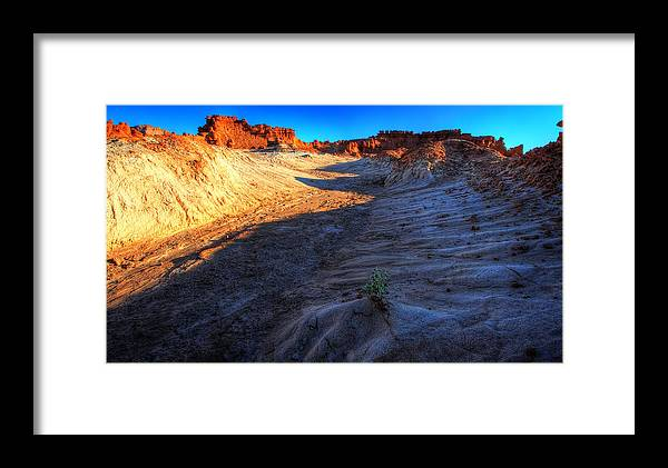 Desert Framed Print featuring the photograph Alone by William Gillam