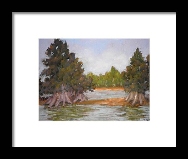 Hillsboro River Framed Print featuring the pastel Along The Hillsboro by Curt Peifley