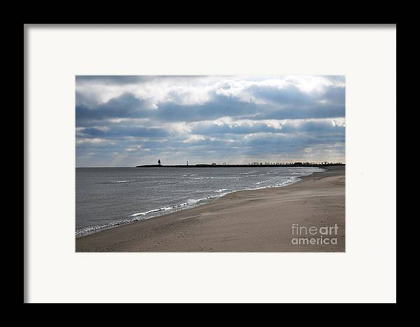 Beach Framed Print featuring the photograph Along The Shore by Dan Holm