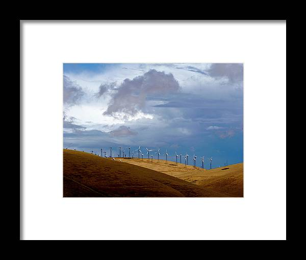 Altamont Pass Framed Print featuring the photograph Altamont Pass California by Amelia Racca