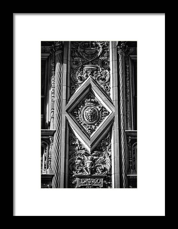 Black Russian Framed Print featuring the photograph Alwyn Court Building Detail 1 by Val Black Russian Tourchin