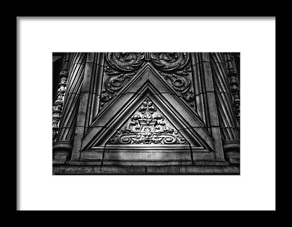 Black Russian Framed Print featuring the photograph Alwyn Court Building Detail 13 by Val Black Russian Tourchin