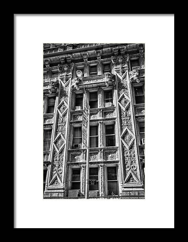 Black Russian Framed Print featuring the photograph Alwyn Court Building Detail 15 by Val Black Russian Tourchin