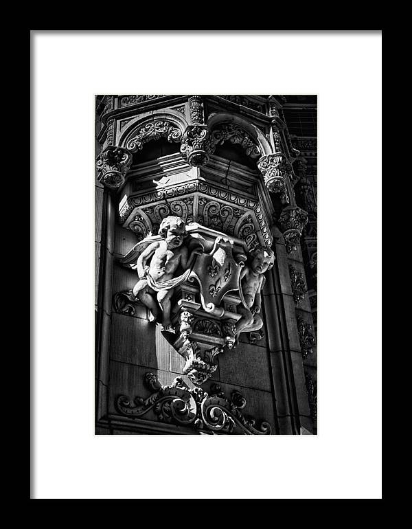 Black Russian Framed Print featuring the photograph Alwyn Court Building Detail 18 by Val Black Russian Tourchin
