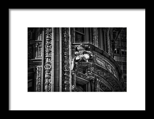Black Russian Framed Print featuring the photograph Alwyn Court Building Detail 22 by Val Black Russian Tourchin