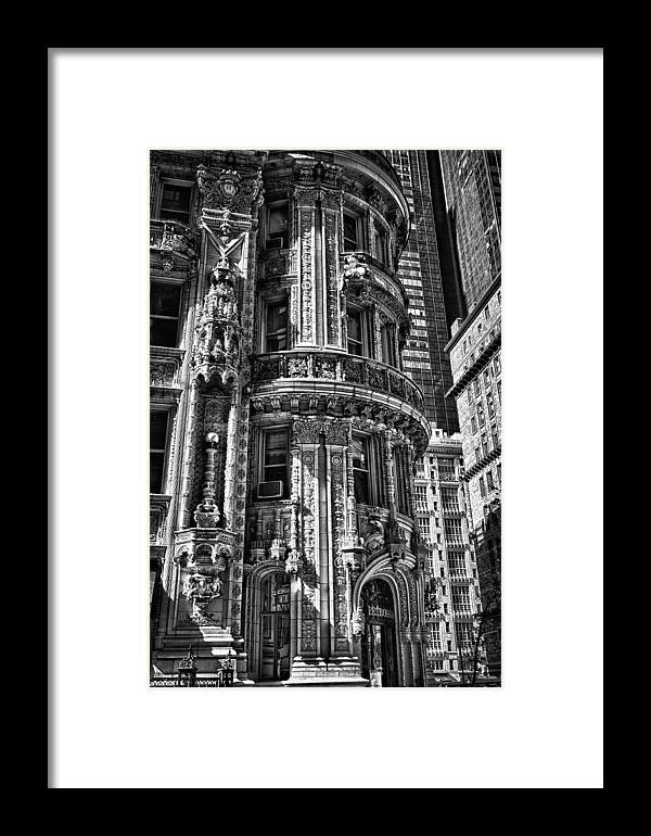 Black Russian Framed Print featuring the photograph Alwyn Court Building Detail 25 by Val Black Russian Tourchin
