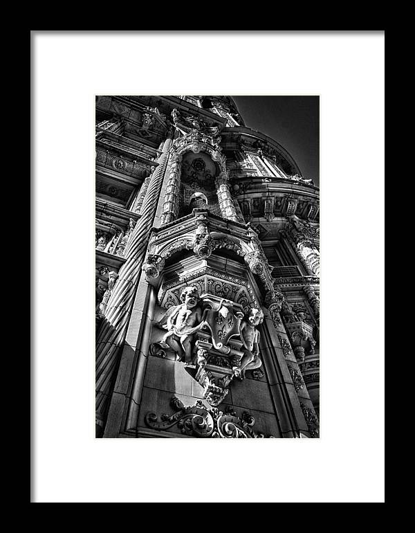 Black Russian Framed Print featuring the photograph Alwyn Court Building Detail 4 by Val Black Russian Tourchin