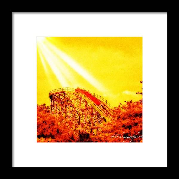 Mobilephotography Framed Print featuring the photograph #amazing Shot Of A #rollercoaster At by Pete Michaud