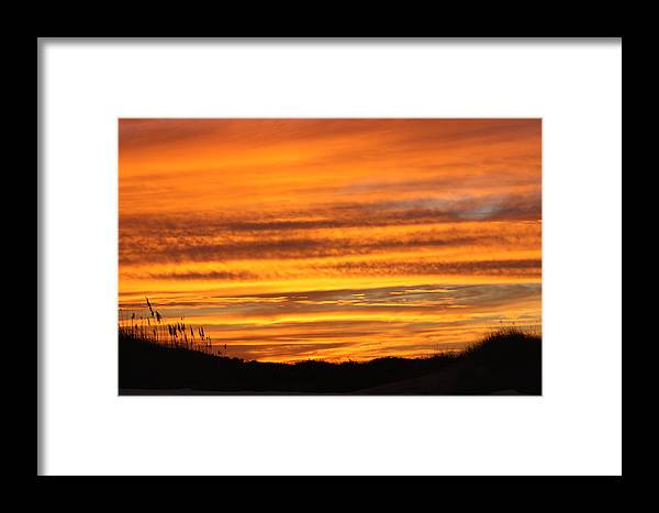 Matte Print Framed Print featuring the photograph Amazing Sunset Over Obx by Kim Galluzzo Wozniak