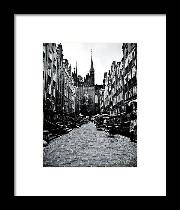 Gdansk Framed Print featuring the photograph Amber Alley In Gdansk - Poland by Natalia Babanova