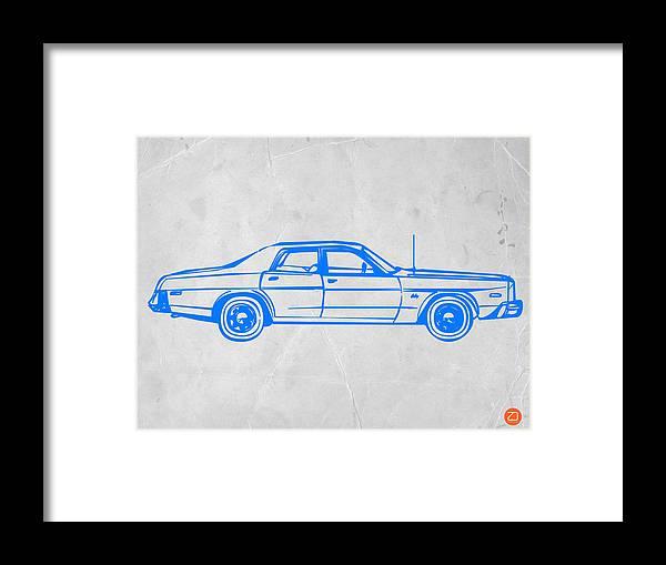 Auto Framed Print featuring the digital art American Car by Naxart Studio