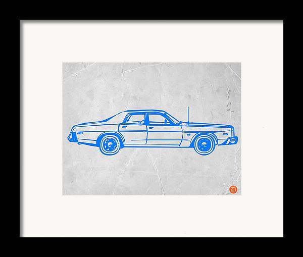 Auto Framed Print featuring the digital art American Car by Naxart Studio